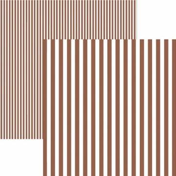 Papel Scrap - Listras Marrom (KFSB438) - Toke e Crie (19979)