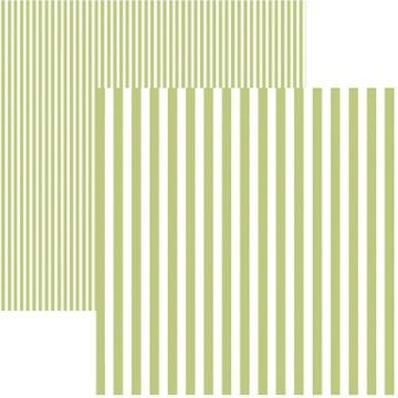 Papel Scrap - Listras Verde Claro (KFSB442) - Toke e Crie (19983)
