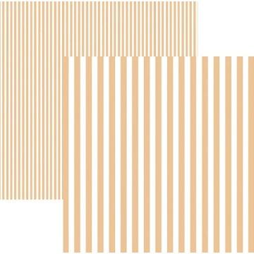 Papel Scrap - Listras Coral (KFSB443) - Toke e Crie (19984)