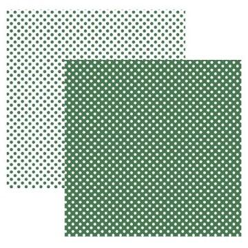 19991 - Papel Scrap - Poá Pequeno Verde (KFSB450) - Toke e Crie