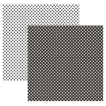 Papel Scrap - Poá Pequeno Preto (KFSB453) - Toke e Crie (19994)