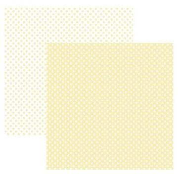 20000 - Papel Scrap - Poá Pequeno Marfim (KFSB459) - Toke e Crie