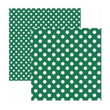 Papel Scrap - Poá Grande Verde - Toke e Crie (20011)