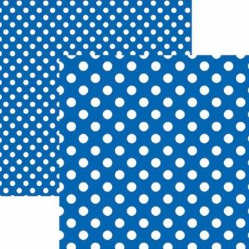 20012 - Papel Scrap - Poá Grande Azul Royal - Toke e Crie