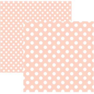20021 - Papel Scrap - Poá Grande Rosa Claro - Toke e Crie