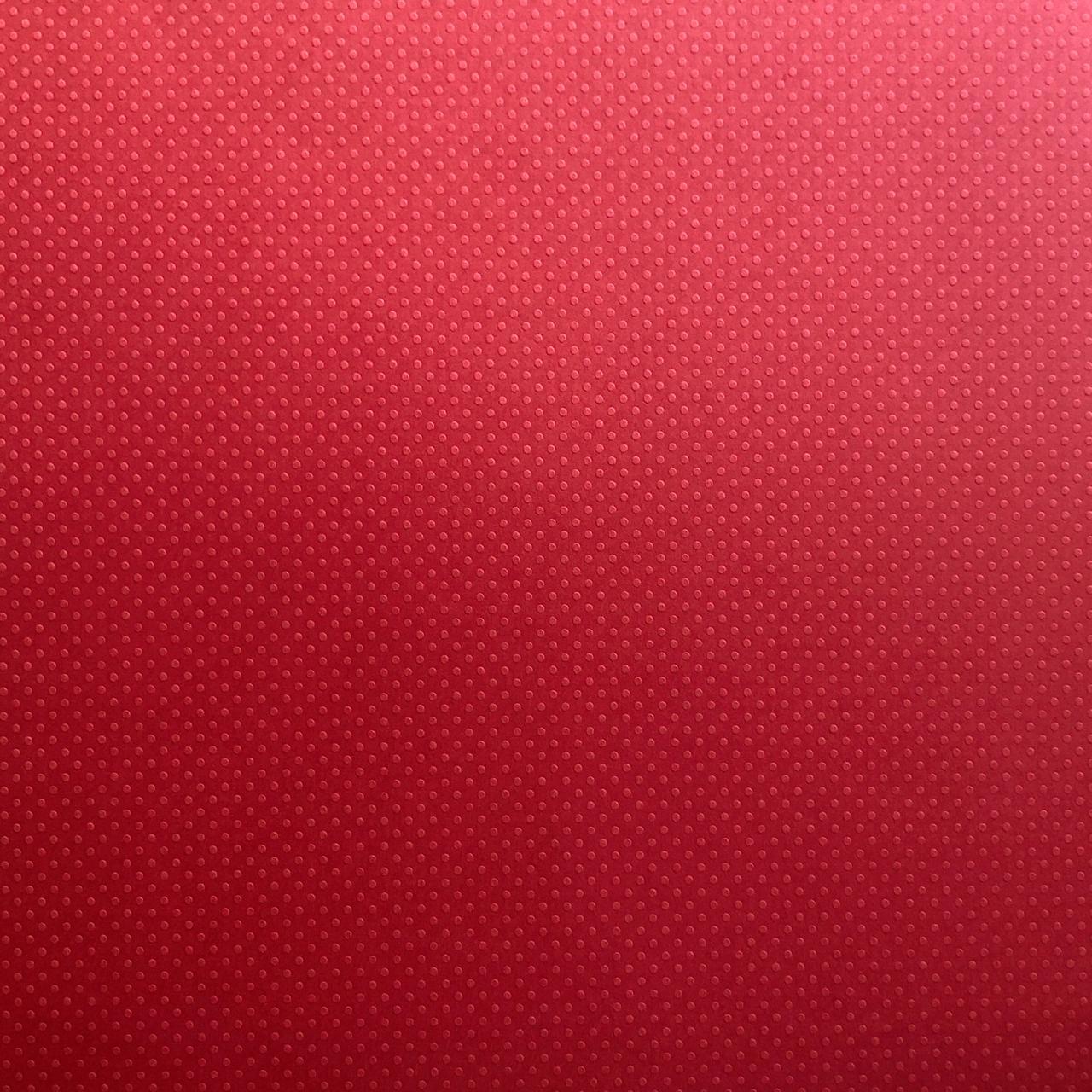 Papel Scrap Cardstock - Bolinhas II Vermelho Intenso - Toke e Crie (20061)