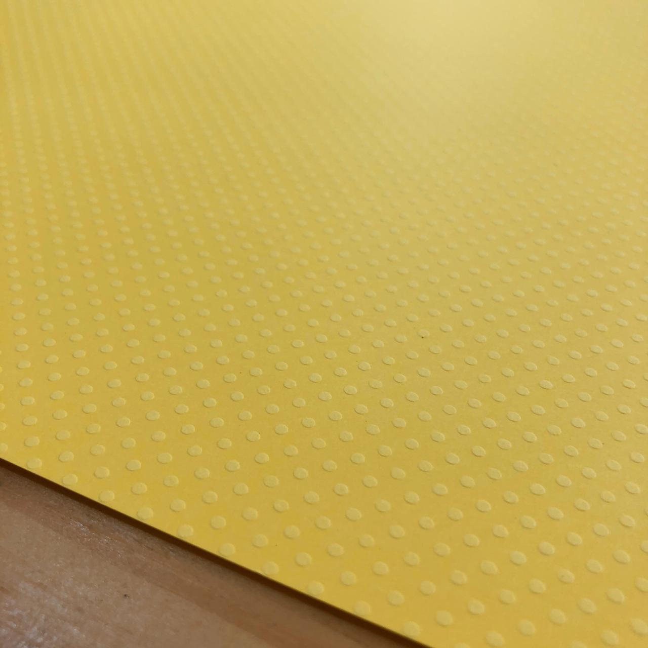 Papel Scrap Cardstock - Bolinhas II Amarelo - Toke e Crie (20073)