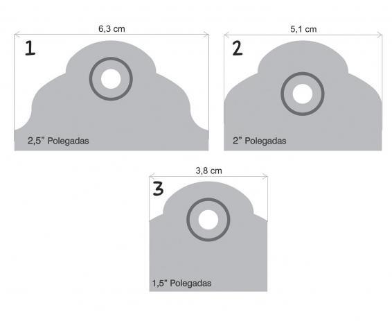 20079 - Furador 3 Tags Alavanca Escalope - Toke e Crie