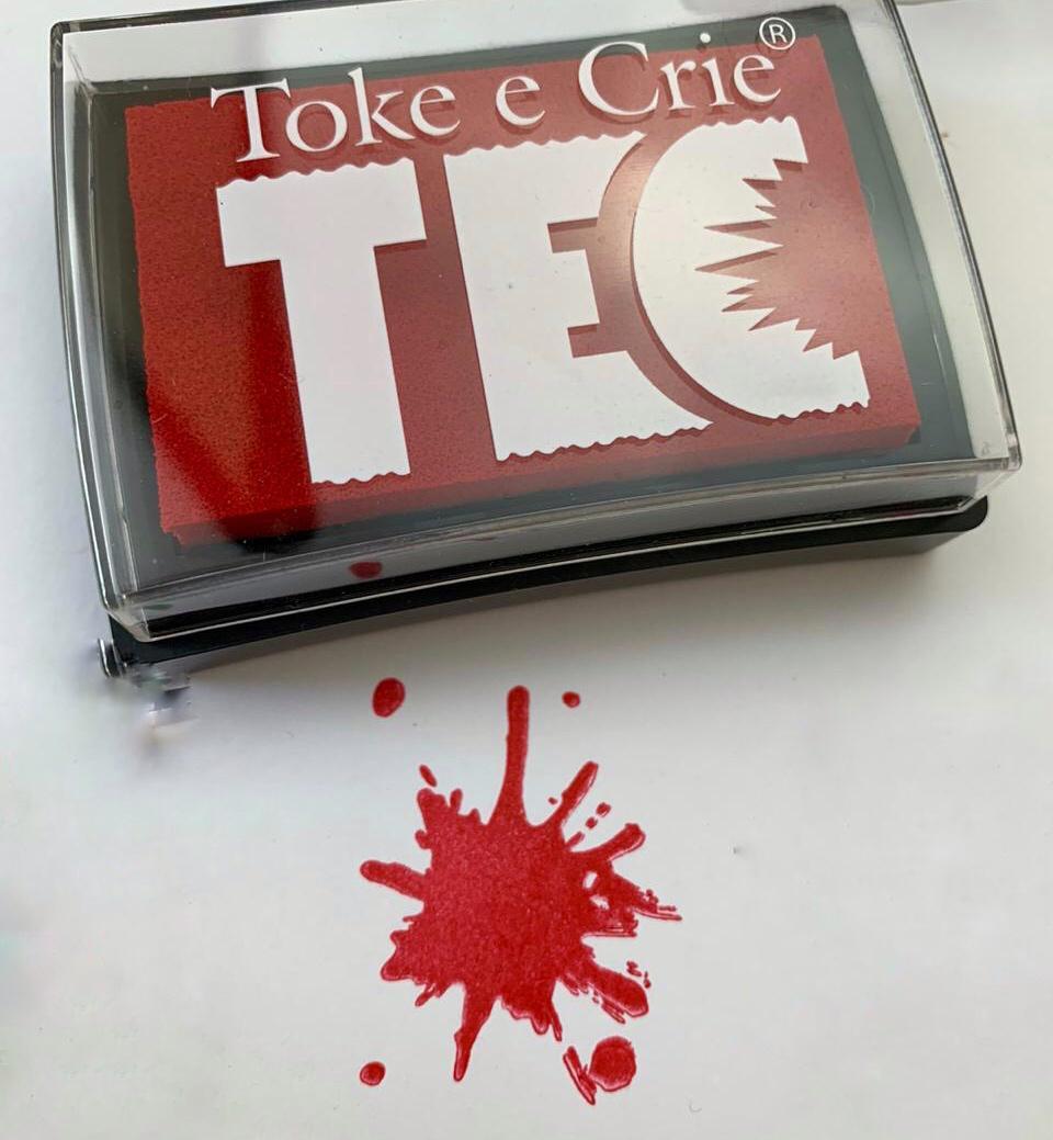 Carimbeira 76 x 53 mm - Vermelho - Toke e Crie (20080)