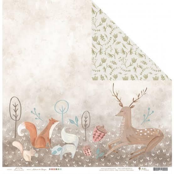 Papel Scrap - Mistérios do Bosque - Coleção Floresta Encantada - Juju Scrapbook (20120)