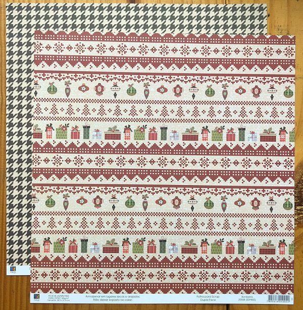 Papel Scrap - Folha Bordados - Então é Natal - Toke e Crie (20558)