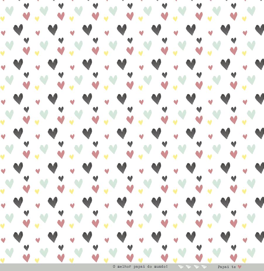 Papel Scrap - Seu Amor é Meu - Coleção Meu Coração é Seu - Juju Scrapbook (22036)