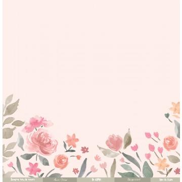 22293 - Papel Scrap - Amor Eterno - Coleção Felizes para Sempre - Juju Scrapbook