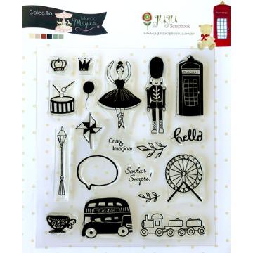 22385 - Cartela de Carimbo Sonhar Sempre - Coleção Mundo Mágico - Juju Scrapbook