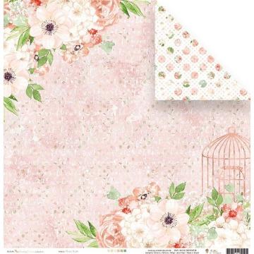 22890 - FLORAL ROSE - SHABBY DREAMS - JUJU SCRAPBOOK