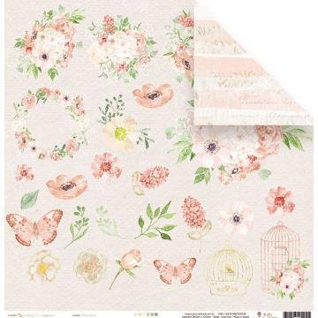 Papel Scrap - Primavera - Coleção Shabby Dreams - Juju Scrapbook (22892)