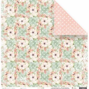 22894 - Papel Scrap - Florescer - Coleção Shabby Dreams - Juju Scrapbook