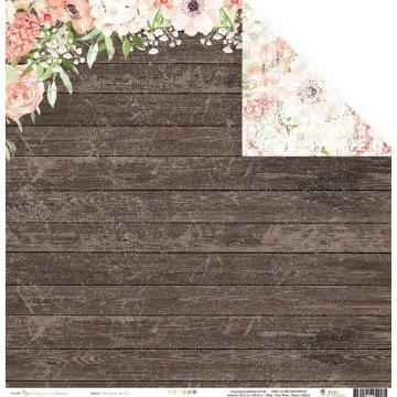 Papel Scrap - Perfume de flor - Coleção Shabby Dreams - Juju Scrapbook (22923)