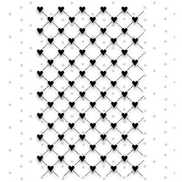 Carimbo Corações - Coleção Shabby Dreams - Juju Scrapbook (22982)