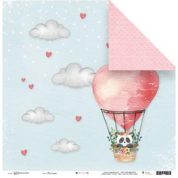 23165 - Papel Scrap - Nas Nuvens - Coleção Abraço de Urso - Juju Scrapbook