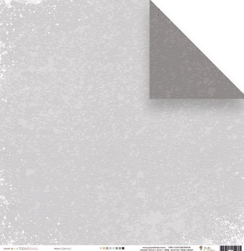 Papel Scrap - Cósmico - Coleção Toda Básica - Juju Scrapbook (23493)