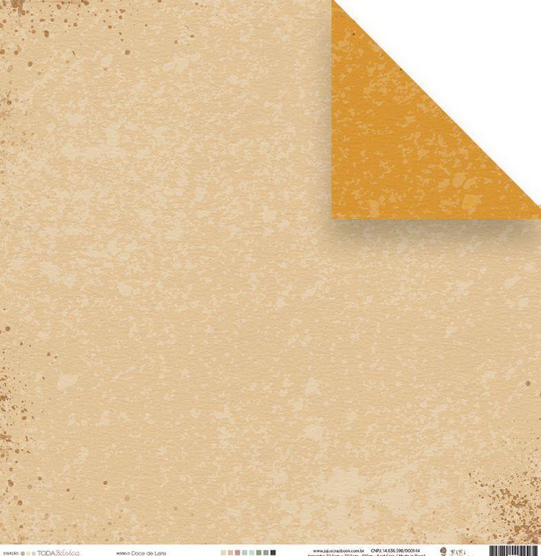 23495 - Papel Scrap - Doce de Leite - Coleção Toda Básica - Juju Scrapbook