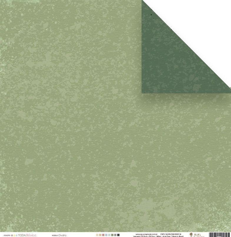 Papel Scrap - Orvalho - Coleção Toda Básica - Juju Scrapbook (23497)