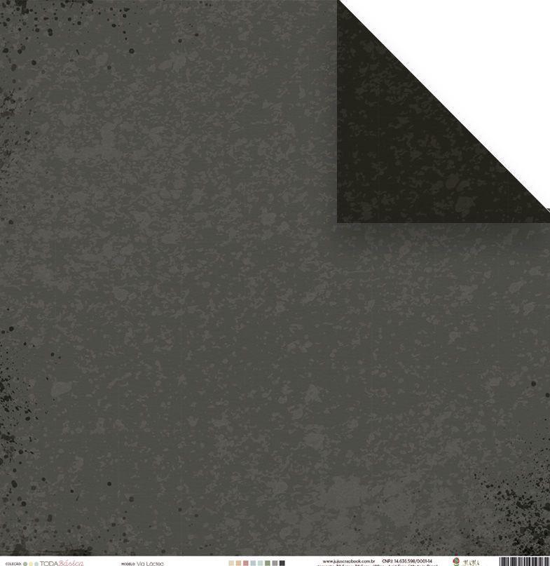 23498 - Papel Scrap - Via Láctea - Coleção Toda Básica - Juju Scrapbook