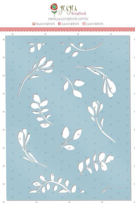 Cartela de Stencil - Flores - Coleção Paraíso Tropical - Juju Scrapbook (23683)