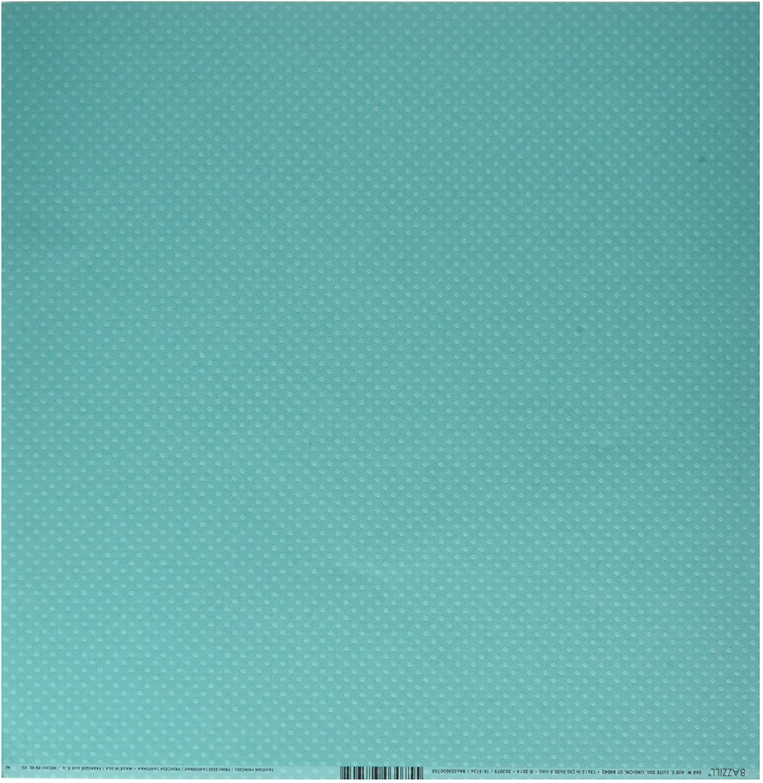 Papel Scrap Cardstock Bolinhas - Verde Tahiti (303075)
