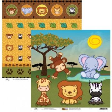 663 - Papel Scrap - Safari - Ok Scrapbook
