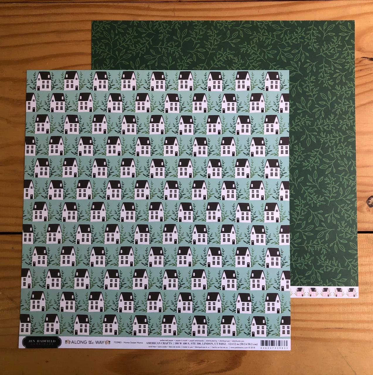 Papel Scrap - Home Sweet Home - Coleção Along the Way - Jen Hadfield (733983)