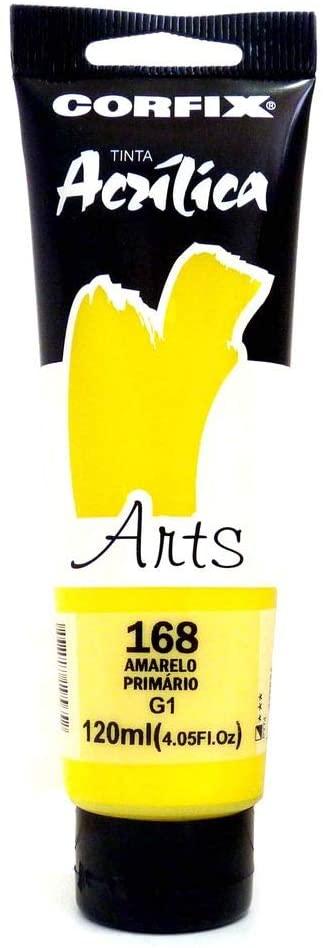 Tinta Acrílica Arts Amarelo Primário - Corfix (AP85120)