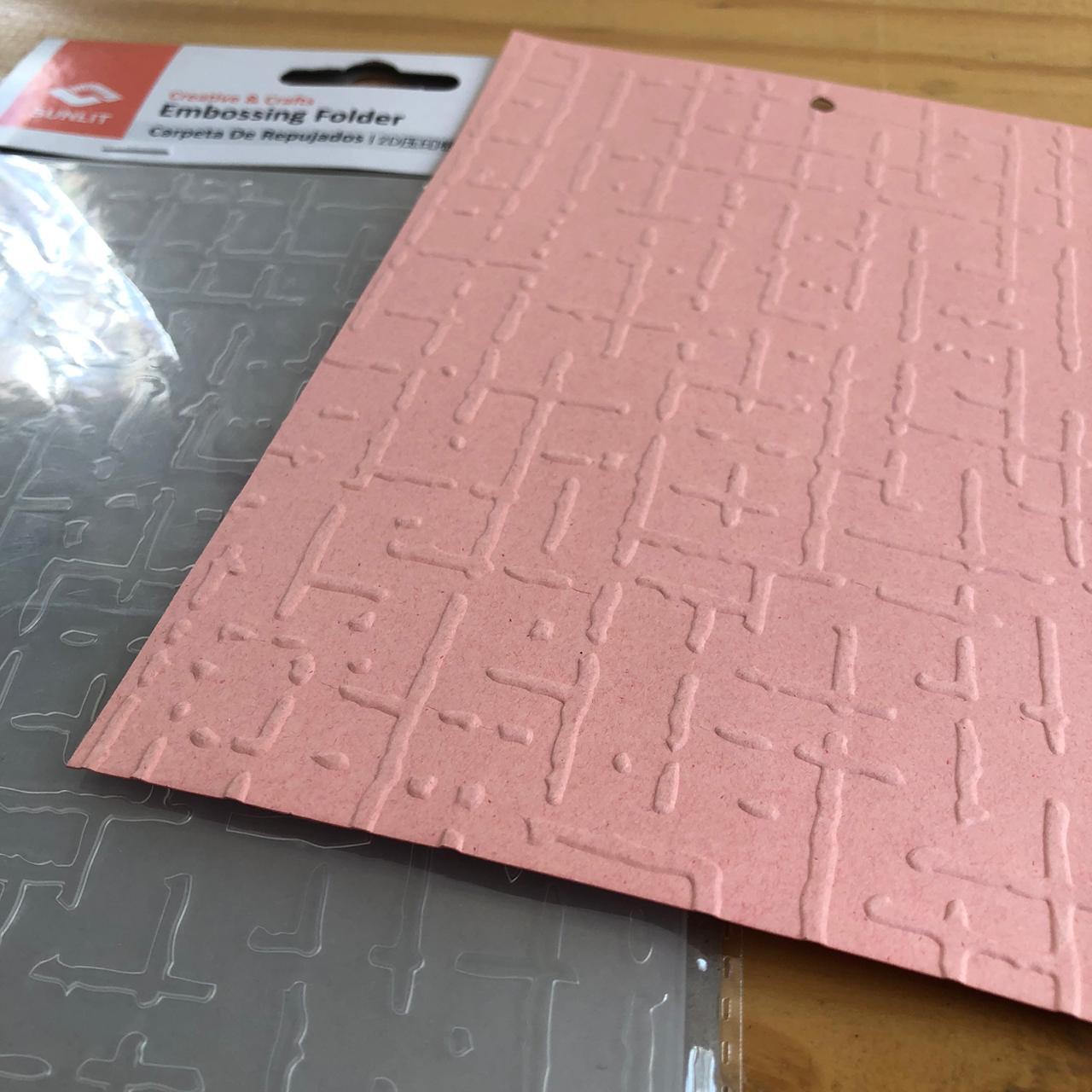 Placa de Emboss 13 x 18 cm - Padronagem (863-007-015)
