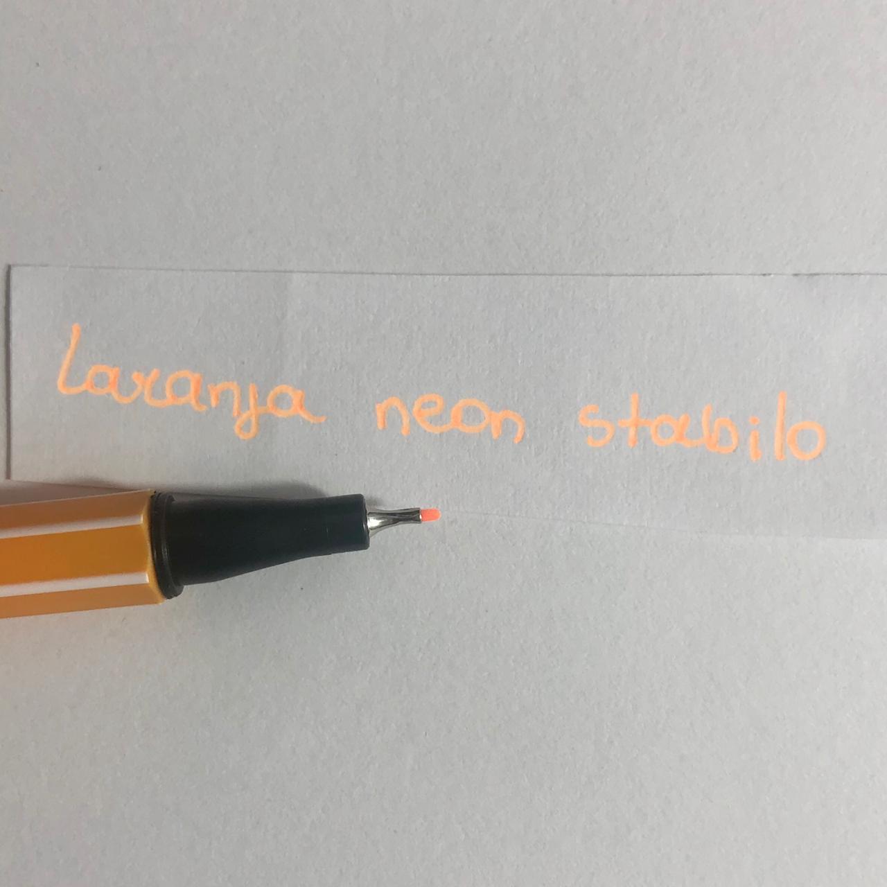 Caneta Stabilo 0,4 - Laranja Neon (88/054)