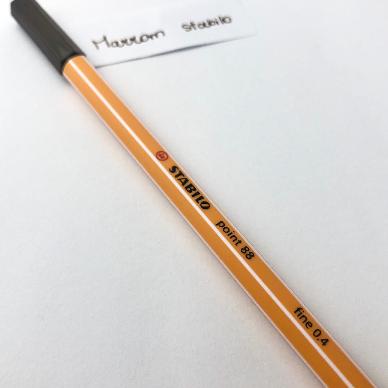 Caneta Stabilo 0,4 - Marrom escuro (88/65)