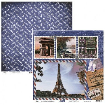 Papel Scrap - Paris e Postal Vintage - Ok Scrapbook (9502)