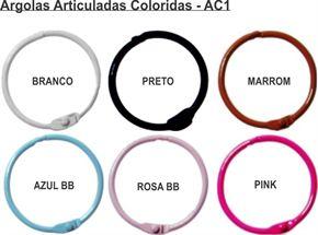 AC1 - Argola Articulada Metal Colorida c/ 6 pares - Art e Montagem