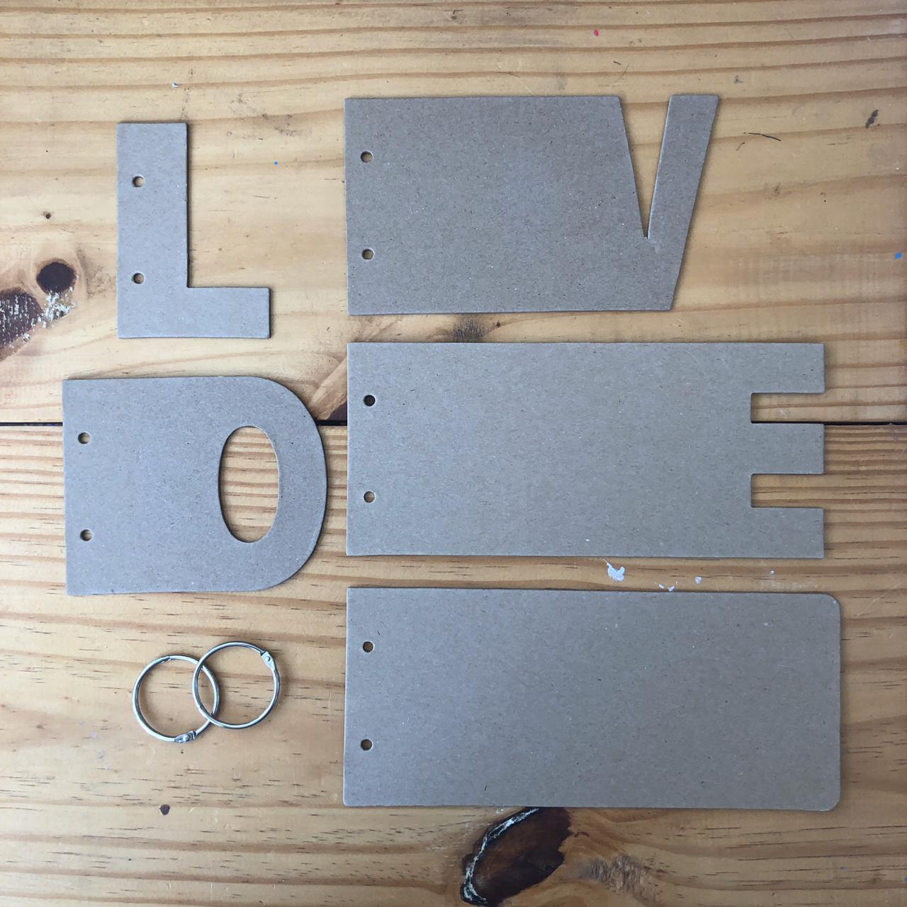 Mini-álbum chipboard - LOVE - Art e Montagem (ACP003)