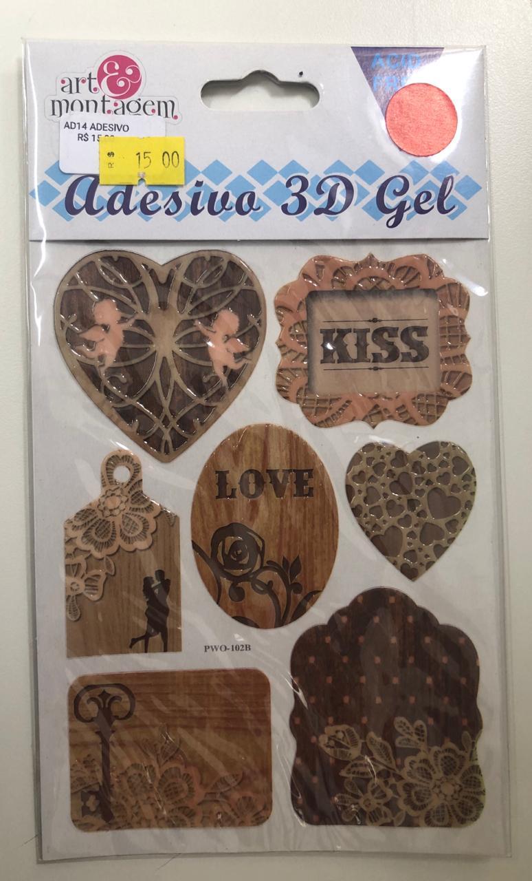 Adesivo 3D Gel - Art e Montagem (AD147)