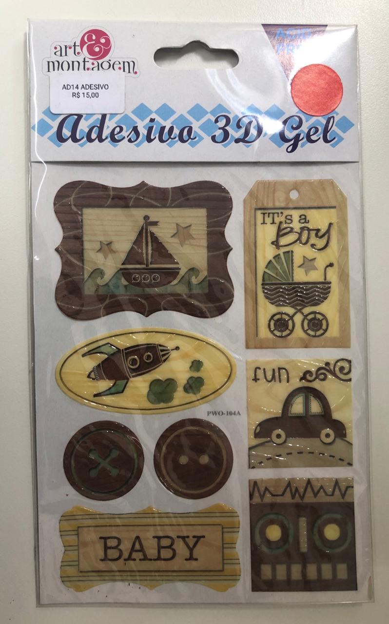 Adesivo 3D Gel - Art e Montagem (AD150)