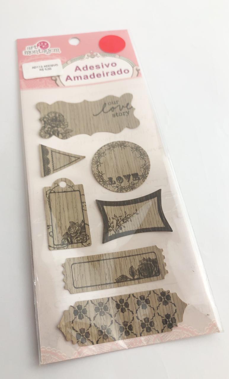 Adesivo Amadeirado - Forever - Art e Montagem (AD113)