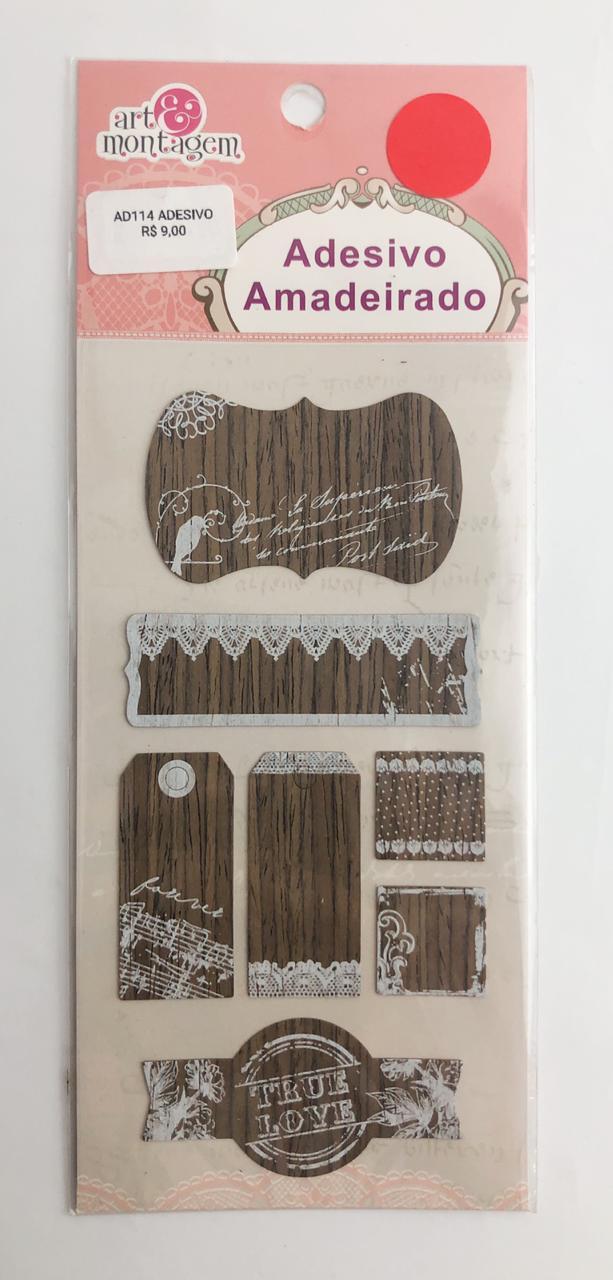 Adesivo Amadeirado - True Love - Art e Montagem (AD114)