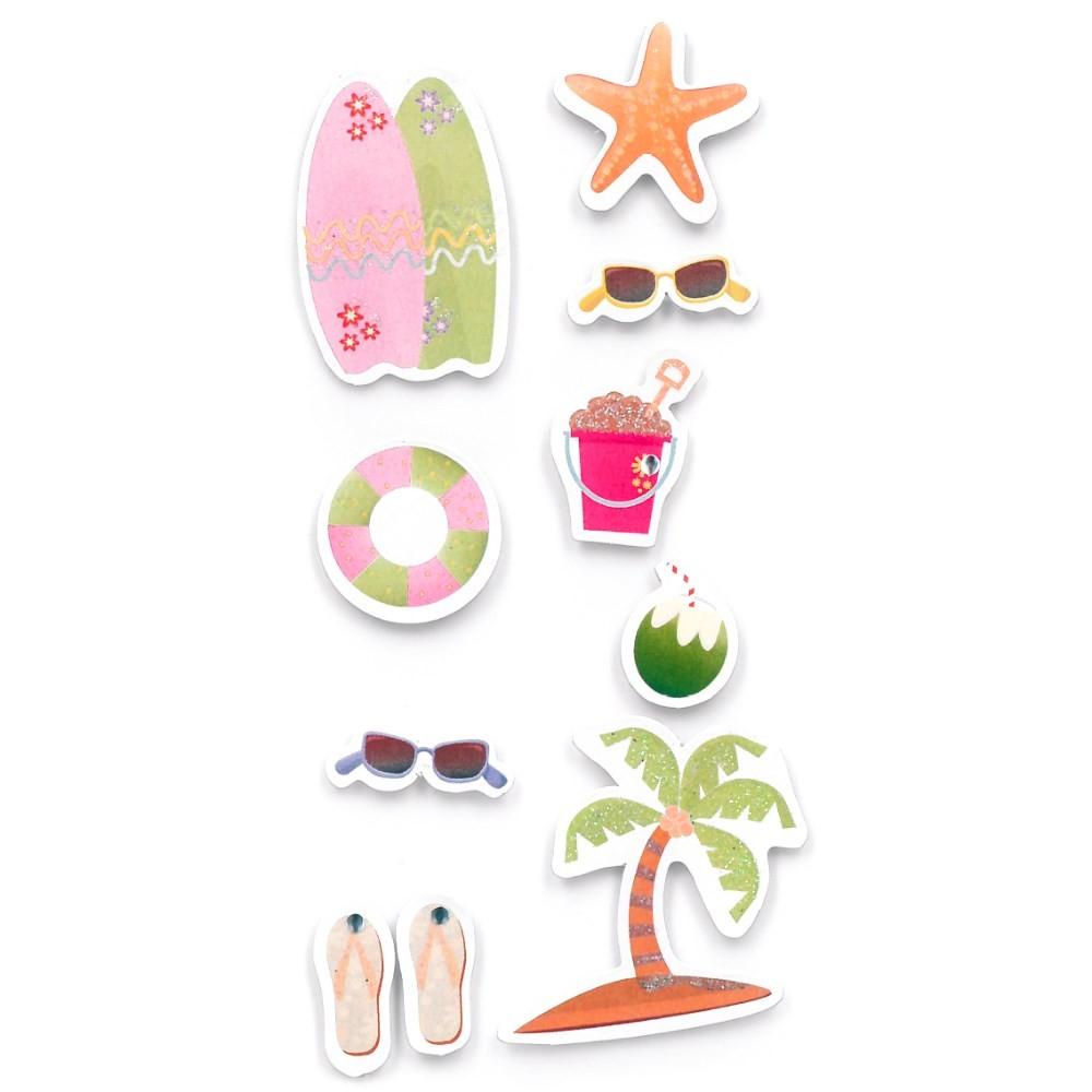 Adesivo FM Com Glitter Verão - Toke e Crie (21030)