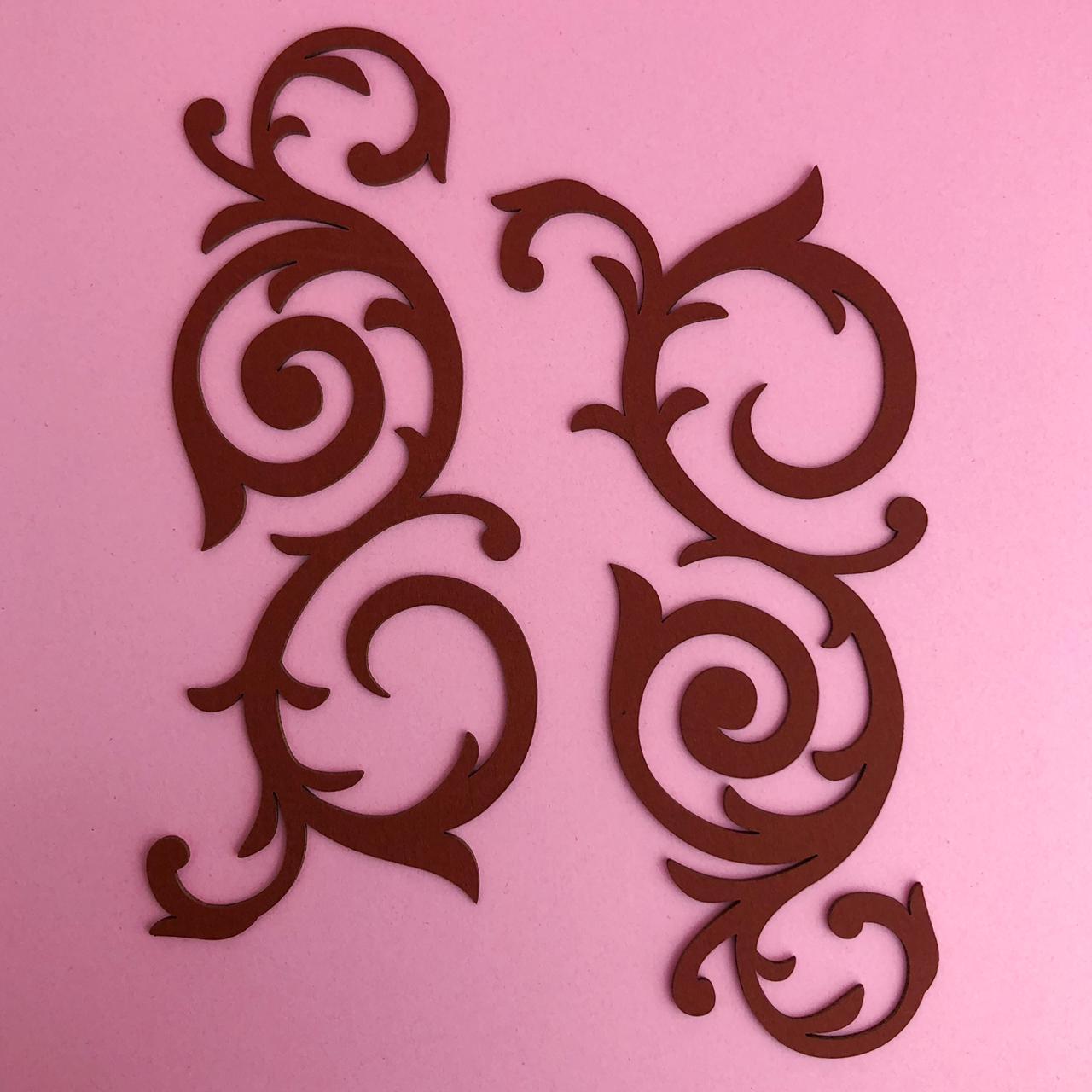 Arabescos marnie grande marrom - BG Crafts (BG06)
