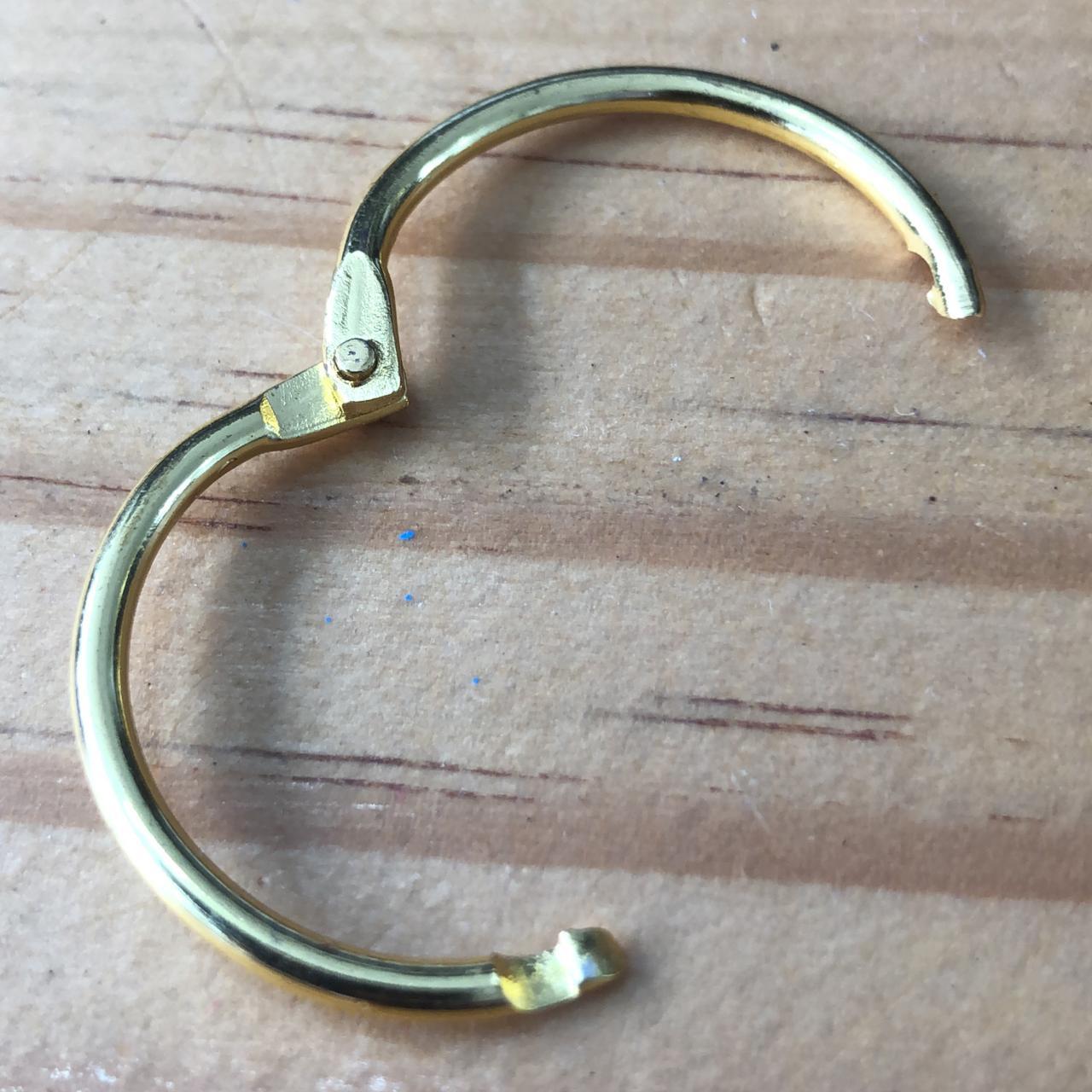 Argola articulada 35 mm - dourada (Arg04)