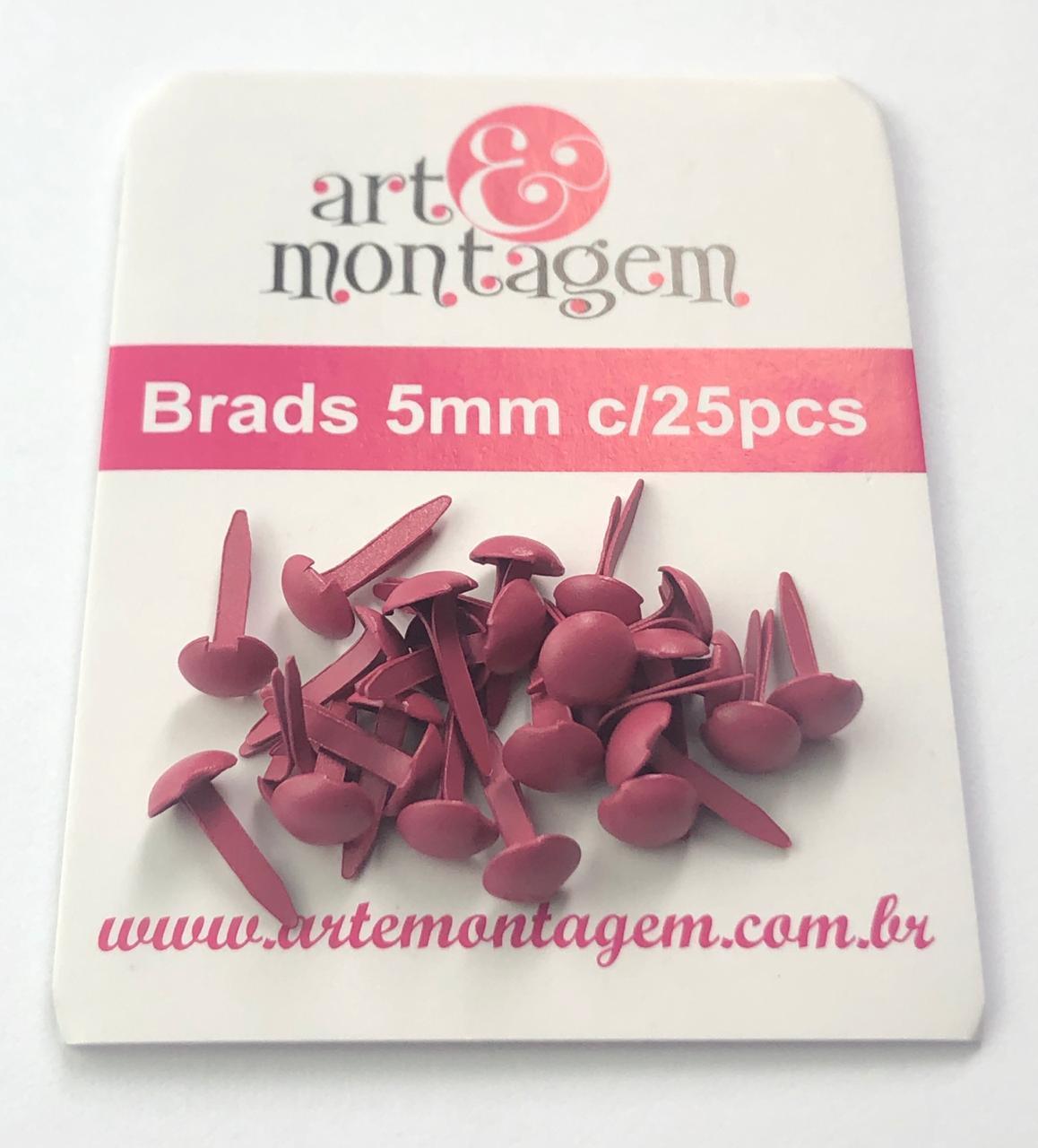 Brads (bailarinas) 5 mm - Pink - Art e Montagem (BD21-6)