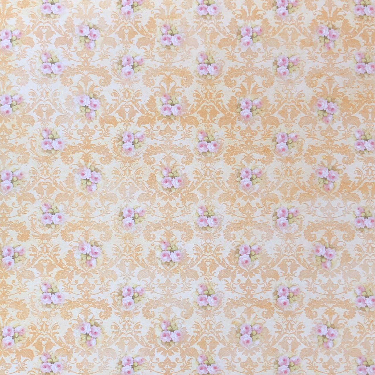 Bloco de Papéis Coordenados 20 x 20 cm - Amarelo - Arte Fácil