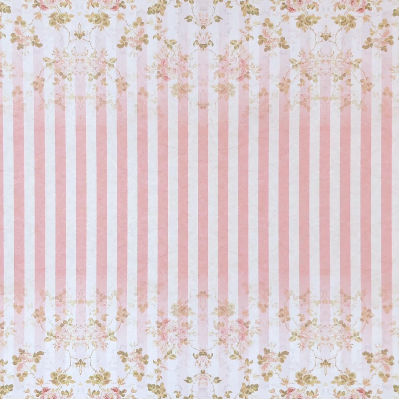 Bloco de Papéis Coordenados 20 x 20 cm - Rosa - Arte Fácil