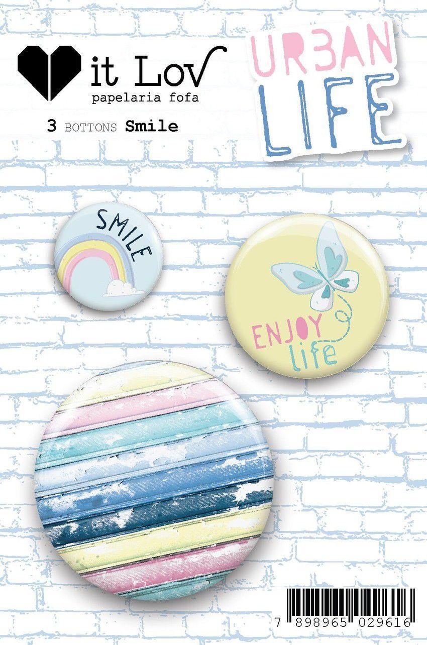 Bottons Smile - Coleção Urban Life - It Lov (BIL001)